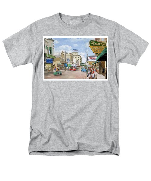 Men's T-Shirt  (Regular Fit) featuring the painting Remembering Duval St. by Bob George