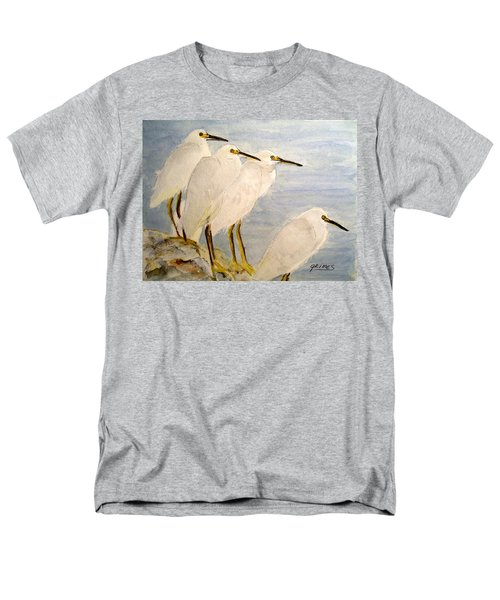 Resting Egrets Men's T-Shirt  (Regular Fit) by Carol Grimes