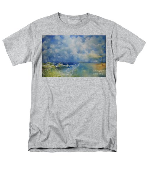 Men's T-Shirt  (Regular Fit) featuring the painting Retrospection Seascape by Maja Sokolowska