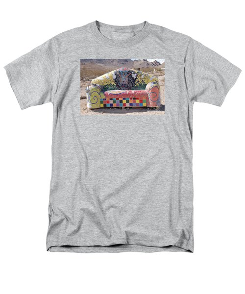 Men's T-Shirt  (Regular Fit) featuring the photograph Rhyolite Sofa by Walter Chamberlain