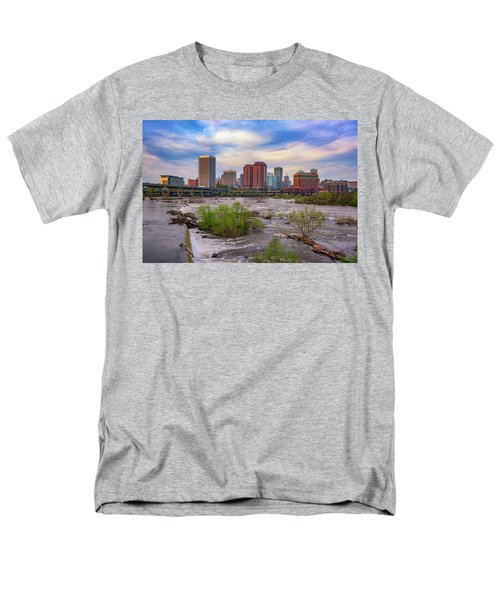 Men's T-Shirt  (Regular Fit) featuring the photograph Richmond Skyline by Rick Berk