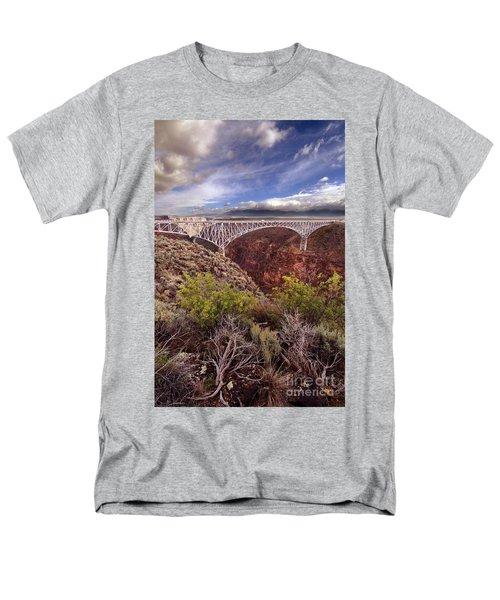 Men's T-Shirt  (Regular Fit) featuring the photograph Rio Grande Gorge Bridge by Jill Battaglia