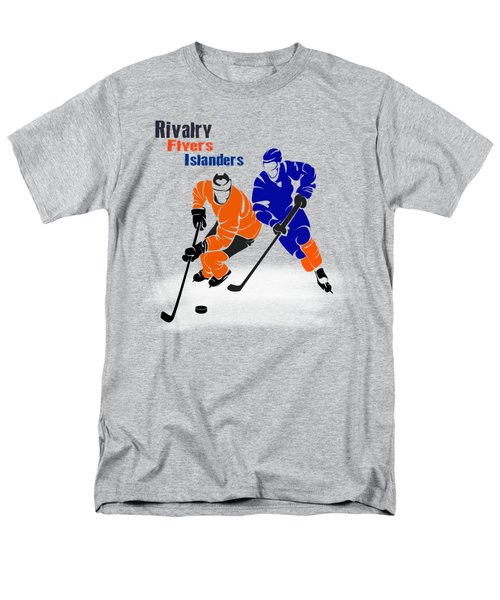 Men's T-Shirt  (Regular Fit) featuring the photograph Rivalry Flyers Islanders Shirt by Joe Hamilton