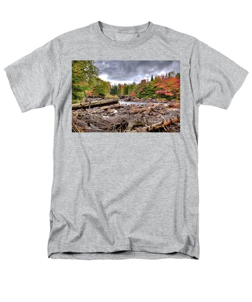 Men's T-Shirt  (Regular Fit) featuring the photograph River Debris At Indian Rapids by David Patterson