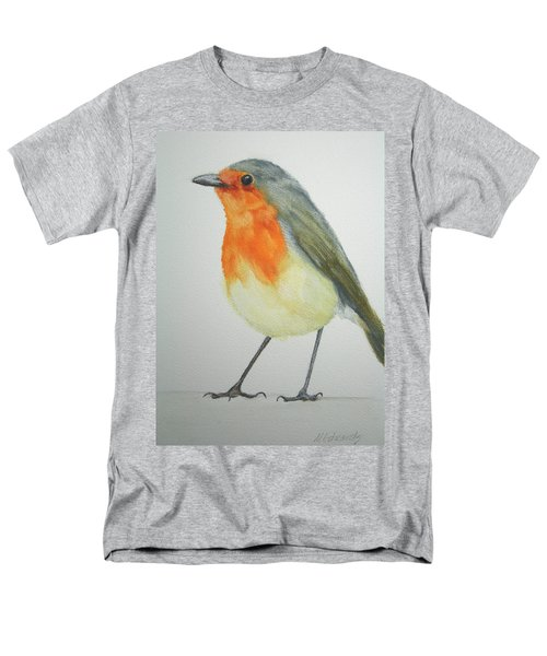 Men's T-Shirt  (Regular Fit) featuring the painting Robin by Marna Edwards Flavell