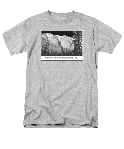 Men's T-Shirt  (Regular Fit) featuring the photograph Rock Formation Yosemite National Park California by A Gurmankin