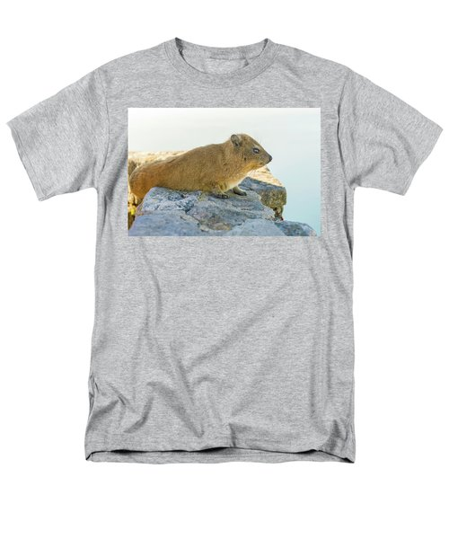 Rock Hyrax On Table Mountain Cape Town South Africa Men's T-Shirt  (Regular Fit) by Marek Poplawski