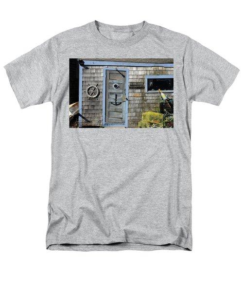 Rockport Fishing Shack Men's T-Shirt  (Regular Fit) by Lou Ford