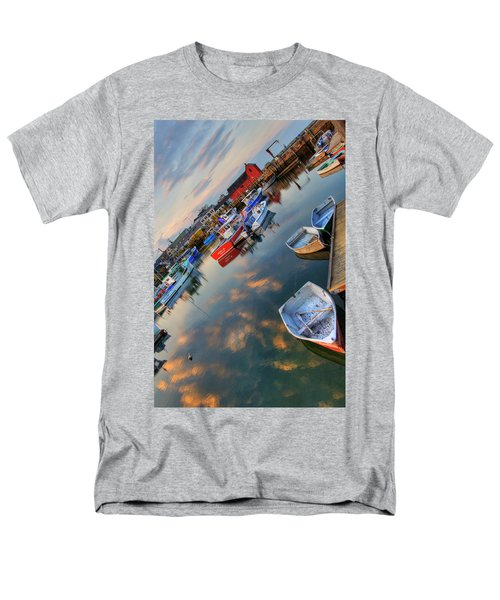 Men's T-Shirt  (Regular Fit) featuring the photograph Rockport Harbor Motif #1  by Joann Vitali