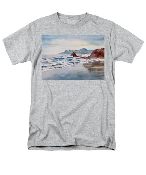 Men's T-Shirt  (Regular Fit) featuring the painting Rocky Beach by Geni Gorani