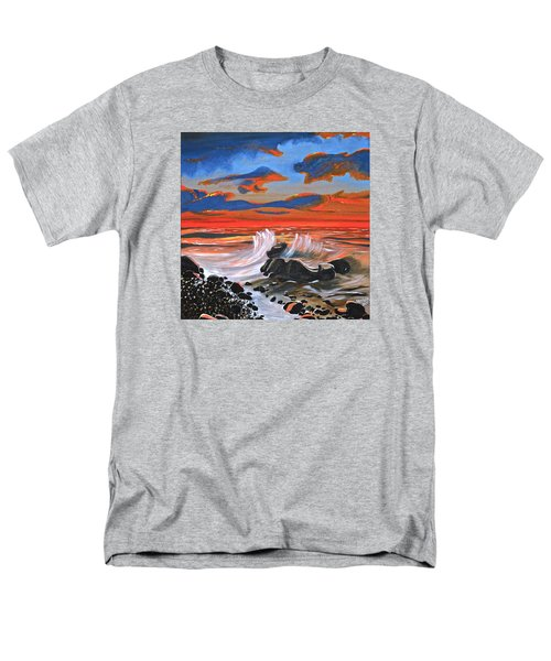 Rocky Cove Men's T-Shirt  (Regular Fit) by Donna Blossom