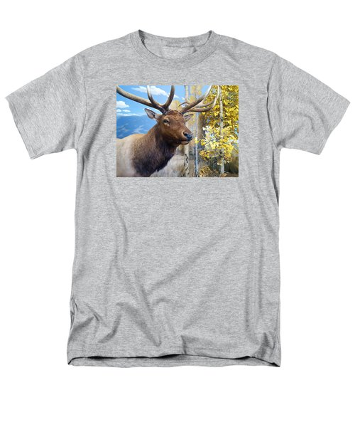 Men's T-Shirt  (Regular Fit) featuring the photograph Rocky Mountain Elk by Karon Melillo DeVega
