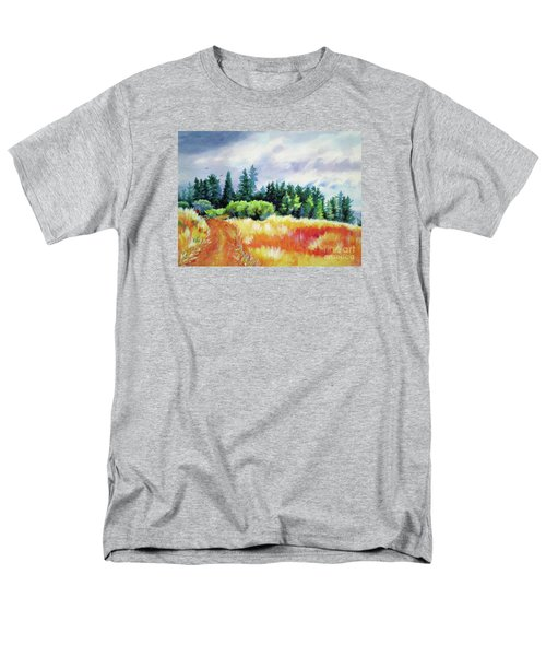 Men's T-Shirt  (Regular Fit) featuring the painting Romp On The Hill by Kathy Braud
