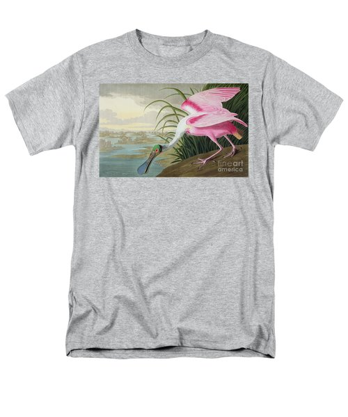 Roseate Spoonbill Men's T-Shirt  (Regular Fit) by John James Audubon