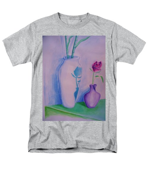 Men's T-Shirt  (Regular Fit) featuring the painting Roses  In Vase by Eric  Schiabor