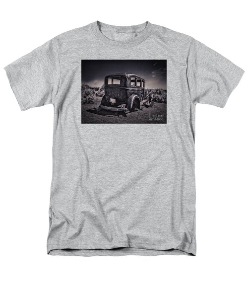 Route 66 Remembered  ... Men's T-Shirt  (Regular Fit) by Chuck Caramella