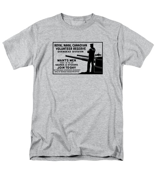 Men's T-Shirt  (Regular Fit) featuring the mixed media Royal Naval Canadian Volunteer Reserve by War Is Hell Store