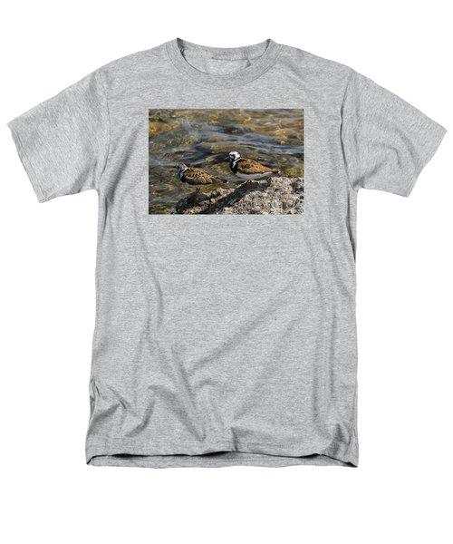 Ruddy Turnstone Men's T-Shirt  (Regular Fit) by Dan Hefle