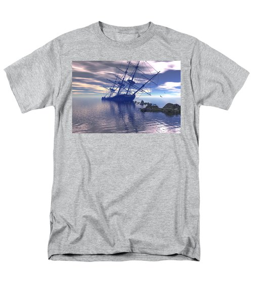 Men's T-Shirt  (Regular Fit) featuring the digital art Run Aground by Claude McCoy