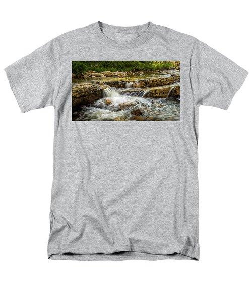 Rushing Waters - Upper Provo River Men's T-Shirt  (Regular Fit)
