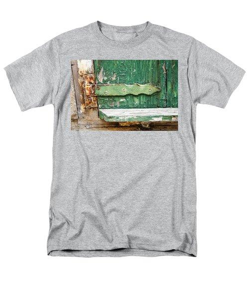 Men's T-Shirt  (Regular Fit) featuring the photograph Rust And Paint by Allen Carroll