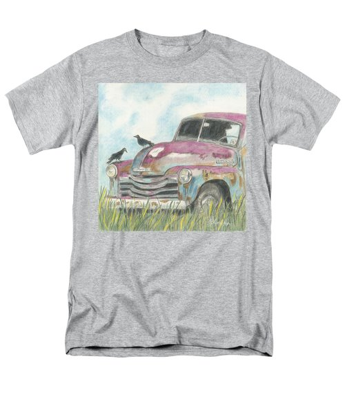Men's T-Shirt  (Regular Fit) featuring the drawing Rust In Peace by Arlene Crafton