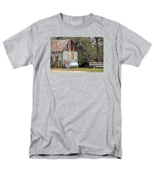 Rusted Tin Shed In Burnt Corn Men's T-Shirt  (Regular Fit) by Lynn Jordan
