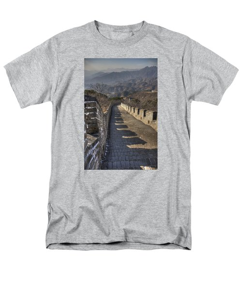 Men's T-Shirt  (Regular Fit) featuring the photograph Rusti  Great Wall Hdr by Matthew Bamberg