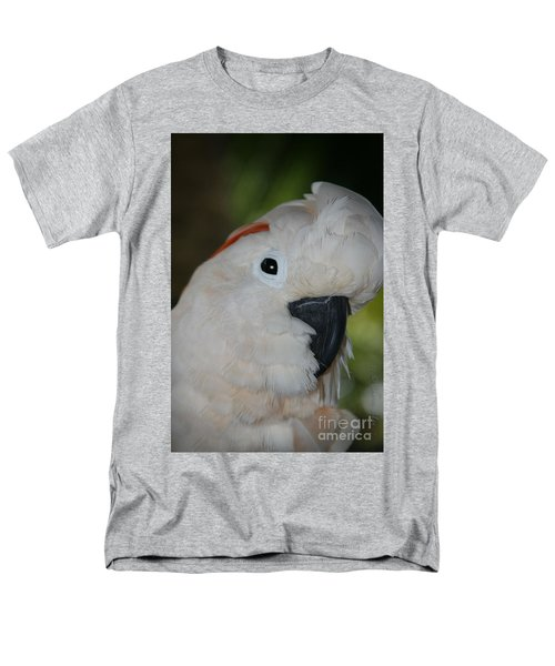 Salmon Crested Cockatoo Men's T-Shirt  (Regular Fit) by Sharon Mau