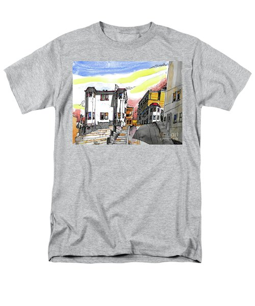 Men's T-Shirt  (Regular Fit) featuring the painting San Francisco Side Street by Terry Banderas