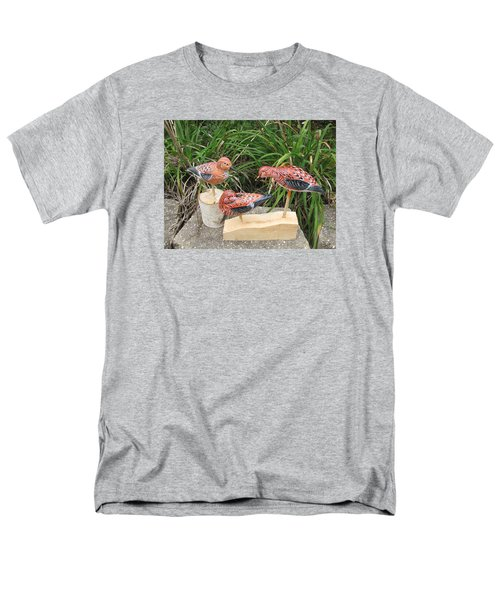 Men's T-Shirt  (Regular Fit) featuring the sculpture Sanderling Trio by Kevin F Heuman