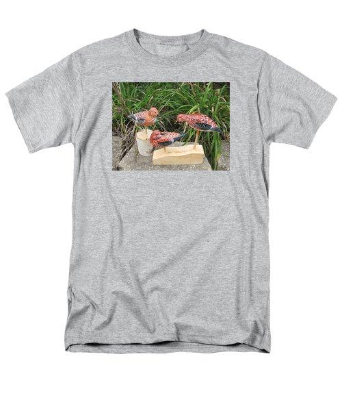 Sanderling Trio Men's T-Shirt  (Regular Fit) by Kevin F Heuman