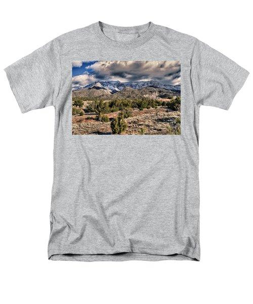 Sandia Mountain Landscape Men's T-Shirt  (Regular Fit) by Alan Toepfer