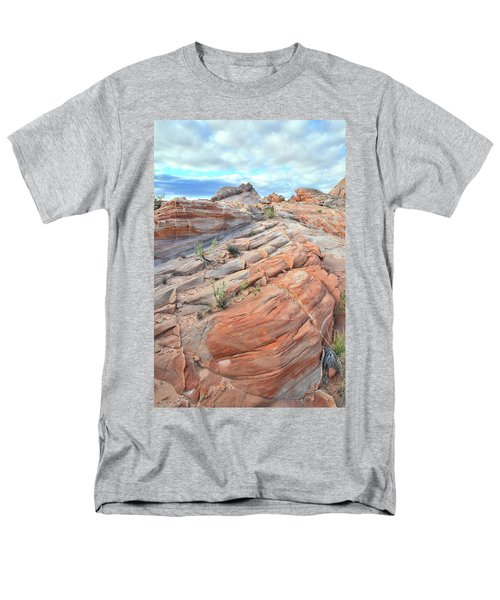 Sandstone Crest In Valley Of Fire Men's T-Shirt  (Regular Fit) by Ray Mathis
