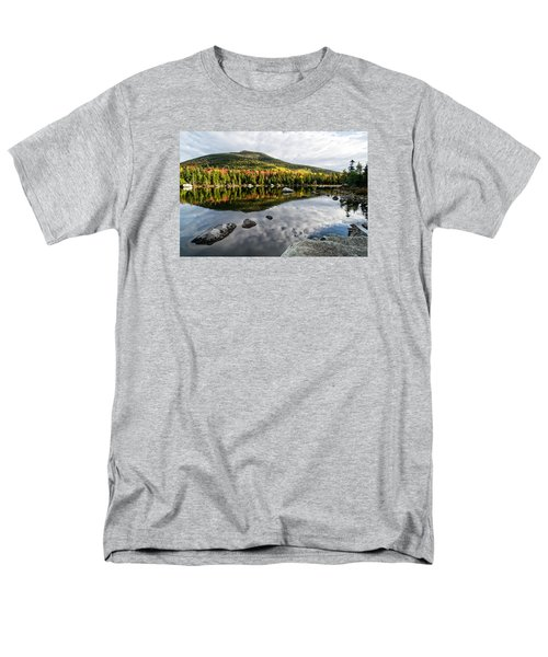 Reflection Sandy Stream Pond Me. Men's T-Shirt  (Regular Fit) by Michael Hubley