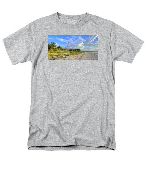Sanibel Light House Men's T-Shirt  (Regular Fit) by Sean Allen