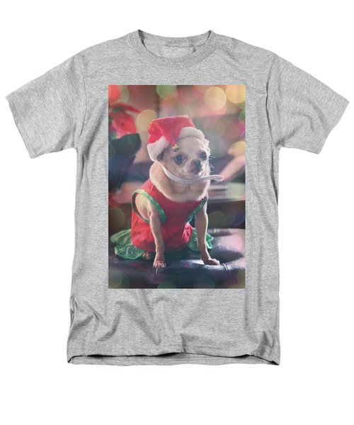 Men's T-Shirt  (Regular Fit) featuring the photograph Santa's Little Helper by Laurie Search
