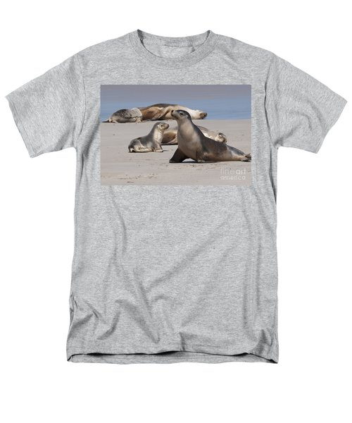 Men's T-Shirt  (Regular Fit) featuring the photograph Sea Lions by Werner Padarin