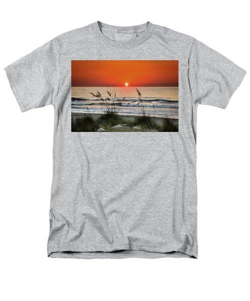 Sea Oats Sunrise Men's T-Shirt  (Regular Fit) by Phil Mancuso