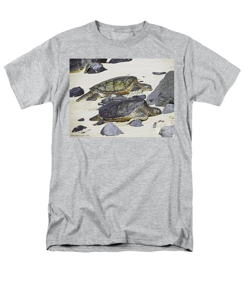 Men's T-Shirt  (Regular Fit) featuring the photograph Sea Turtles by Gena Weiser