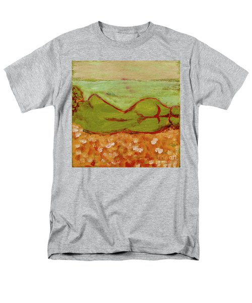 Men's T-Shirt  (Regular Fit) featuring the painting Seagirlscape by Paul McKey