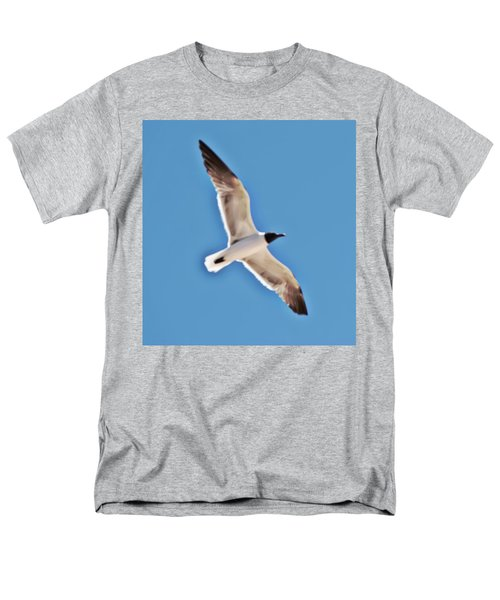 Seagull In Flight Men's T-Shirt  (Regular Fit) by Gina O'Brien