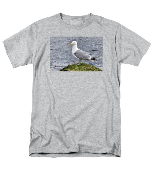 Men's T-Shirt  (Regular Fit) featuring the photograph Seagull Posing by Glenn Gordon