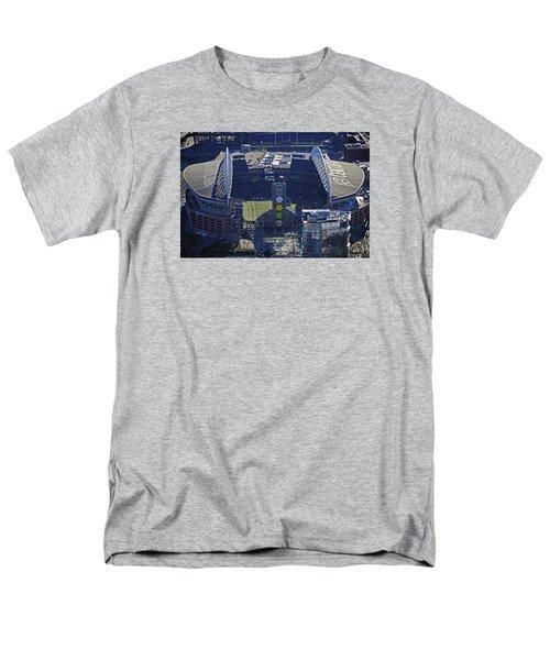 Men's T-Shirt  (Regular Fit) featuring the photograph Seahawk Stadium by Jack Moskovita