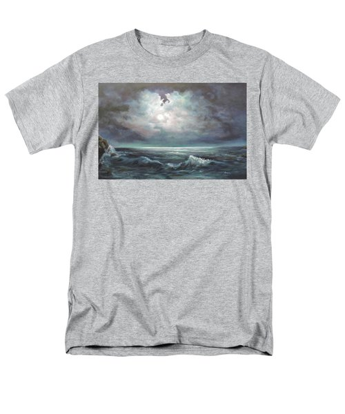 Men's T-Shirt  (Regular Fit) featuring the painting Moonlit  by Luczay