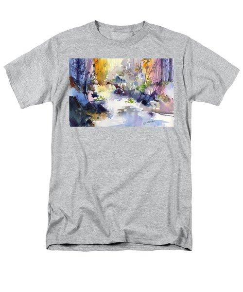 Secret Falls Men's T-Shirt  (Regular Fit) by P Anthony Visco