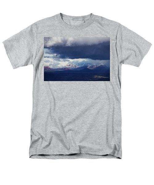 Sedona Area Third Winter Storm Men's T-Shirt  (Regular Fit) by Ron Chilston