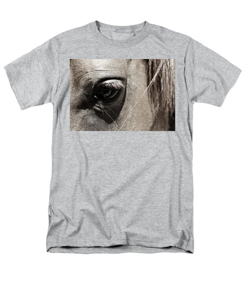 Stillness In The Eye Of A Horse Men's T-Shirt  (Regular Fit) by Marilyn Hunt
