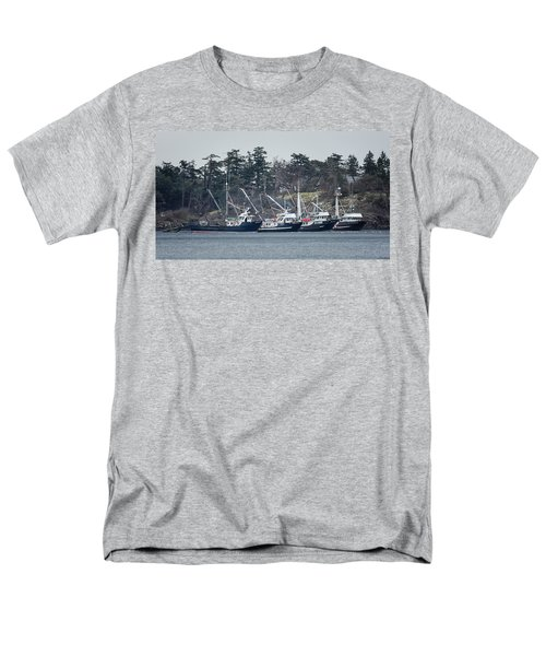 Men's T-Shirt  (Regular Fit) featuring the photograph Seiners In Nw Bay by Randy Hall