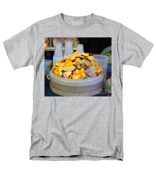 Men's T-Shirt  (Regular Fit) featuring the photograph Selling Fresh Pumpkin Shakes by Yali Shi